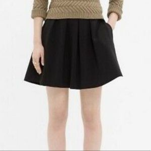 Madewell Countdown Pleated Black Mini Skirt Sz 10